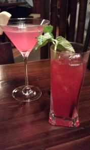 Cherry Blossom Tini (Left) and Blushing Geisha (Right)