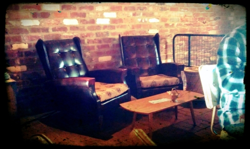 Vintage arm chairs upstairs at The Attic