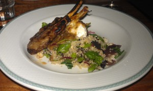 Lamb cutlets with quinoa